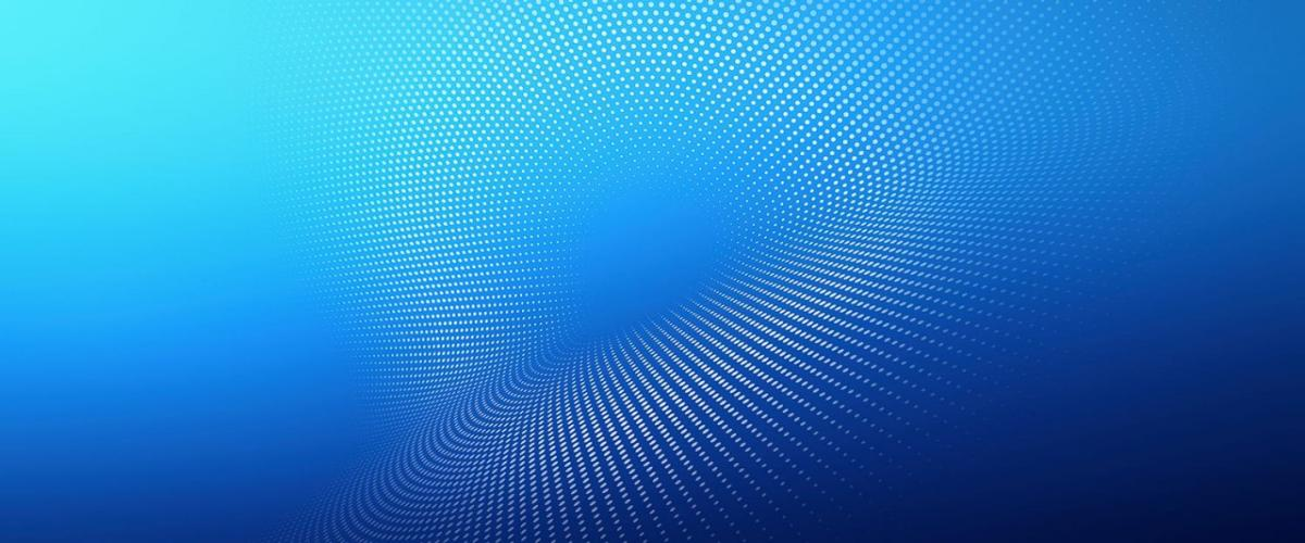 Abstract dot pattern on blue gradient background
