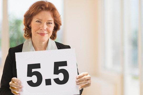 woman with scorecard