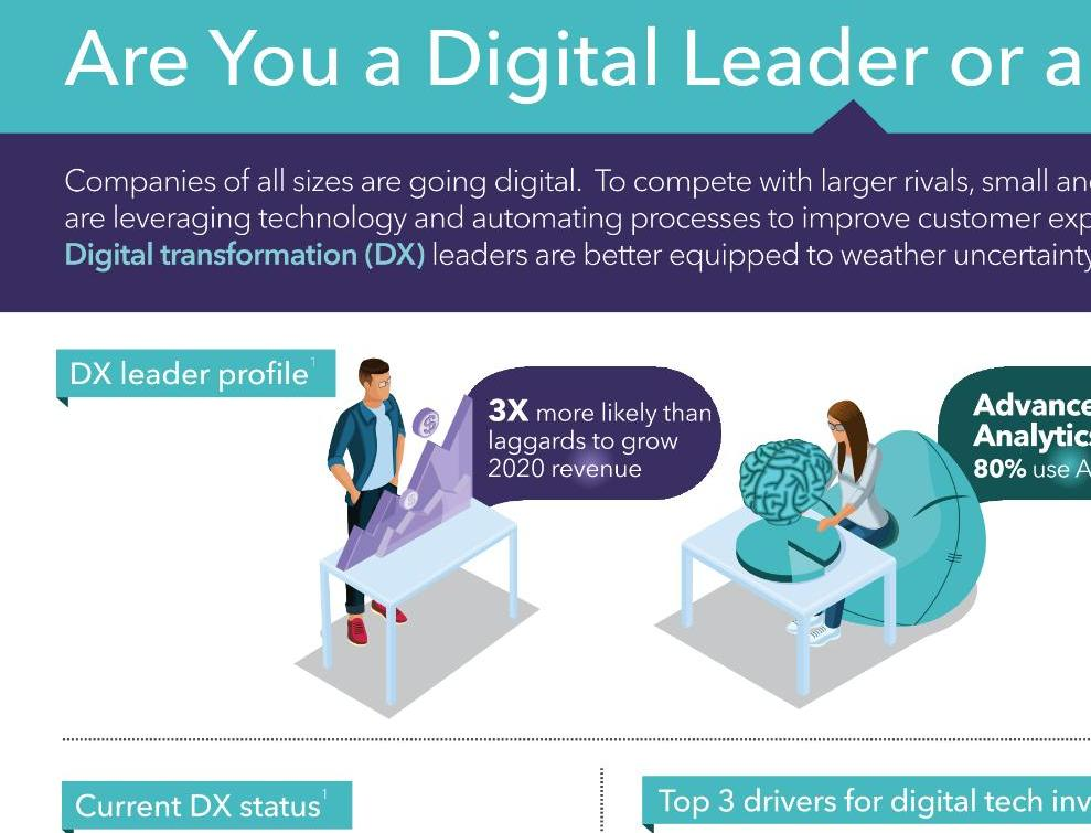 Infographic digitale transformatie midden- en kleinbedrijven