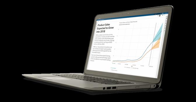 SAS Visual Analytics shown on laptop