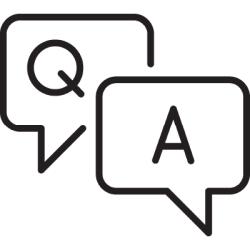 Q and A Bubbles icon