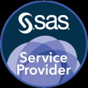 SAS Service Provider badge art, round format, midnight background
