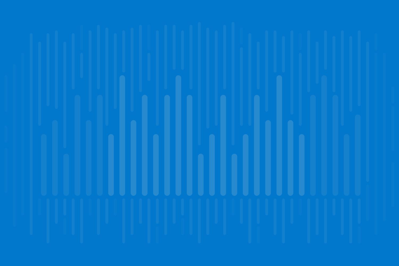 Abstract data visualization art variation on cobalt blue