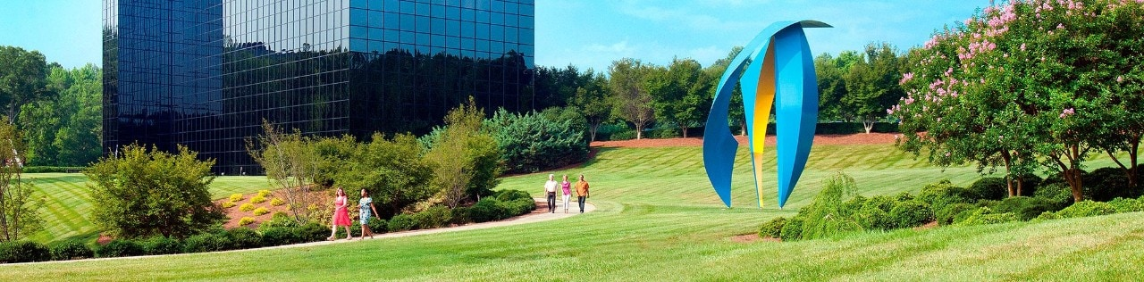 Employees Walking on SAS Cary Campus