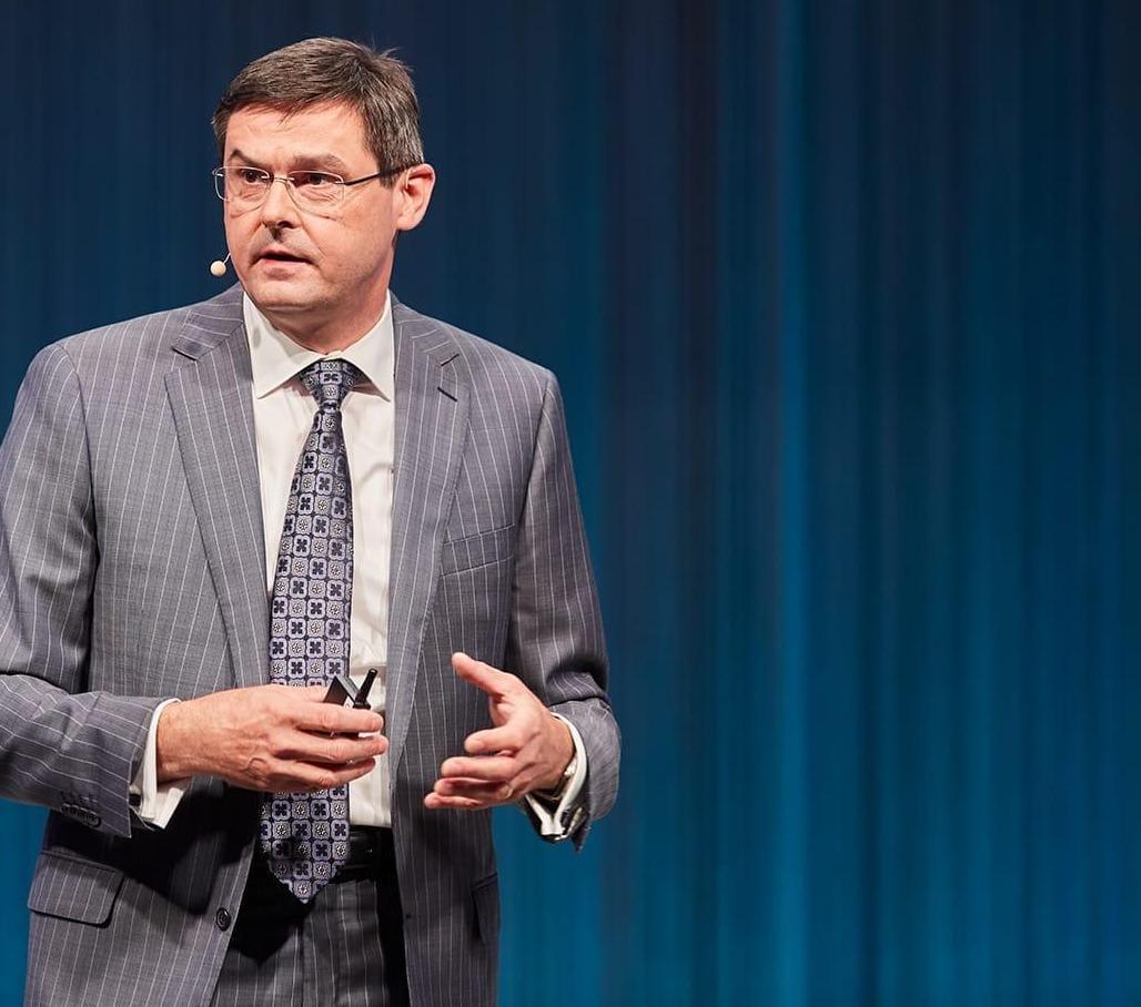 Oliver Schabenberger, COO iCTO w SAS, przemawia na konferencji