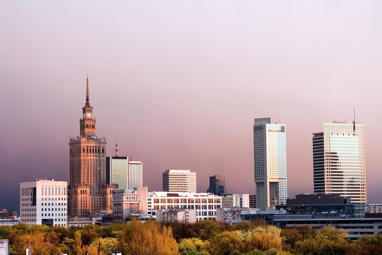 Poland Warsaw skyline
