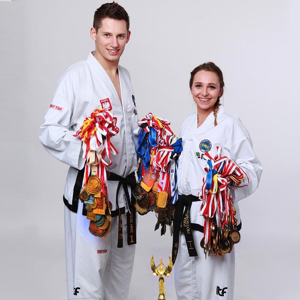 Mateusz Mróz with the sport medals