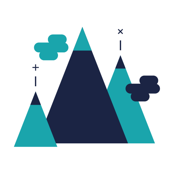 Value mountains and clouds