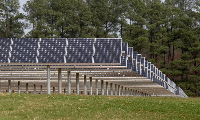 SAS solar farm panels