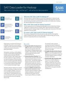SAS Data Loader for Hadoop Fact Sheet Thumbnail
