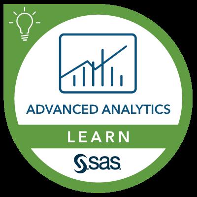 SAS Learn Badge for Advanced Analytics
