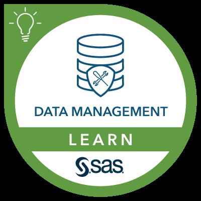 SAS Learn Badge for Data Management