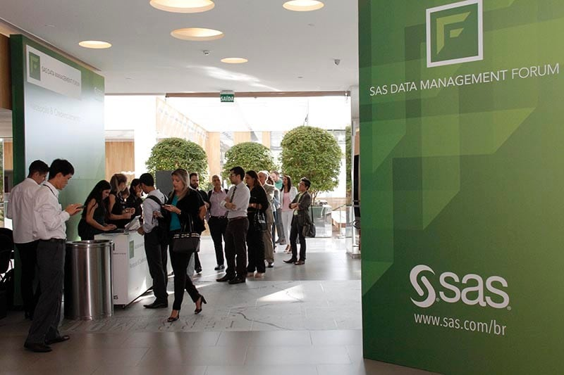 SAS Data Management Forum - Recepção do evento.