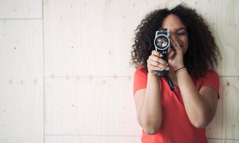 Student camera recording