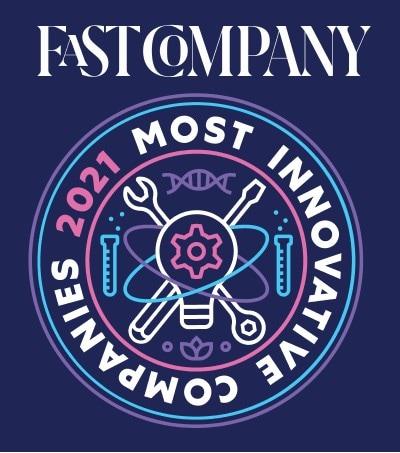 Logo da lista de companhias mais inovadoras de 2021 da Fast Company