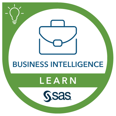 SAS Learn Badge for Business Intelligence