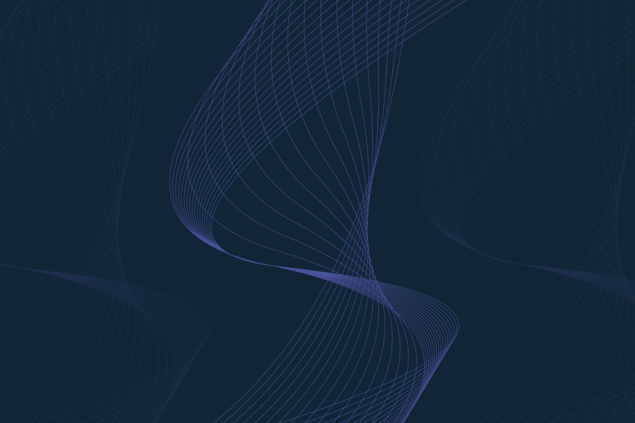 Dark blue background with a purple spiral in the middle