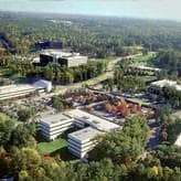 Aerial view of SAS world headquarters in Cary, NC