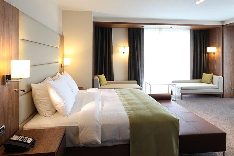 Hotel room bed light phone