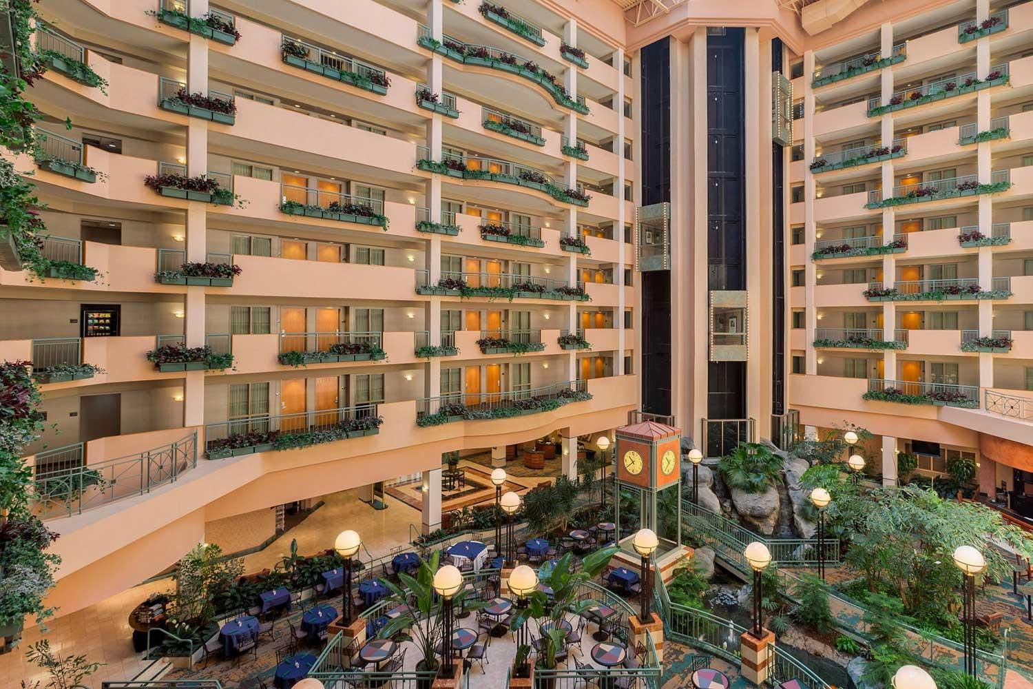 Inside of Embassy Suites Hotel RDU