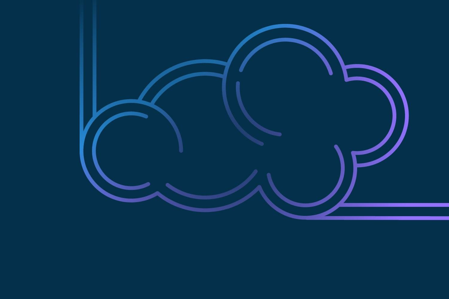 Violet and blue abstract cloud on dark blue background