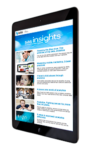 SAS Insights Newsletter on Tablet