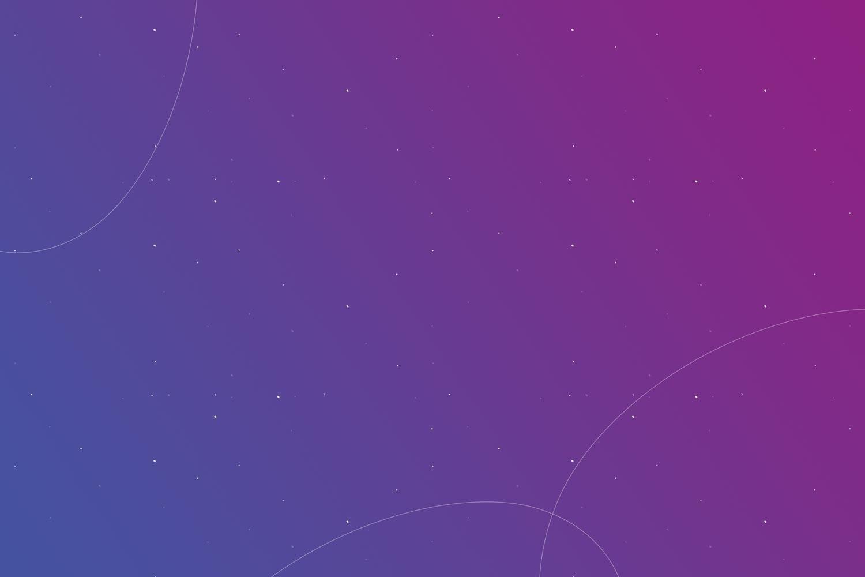 Purple background, white dots, sky stars