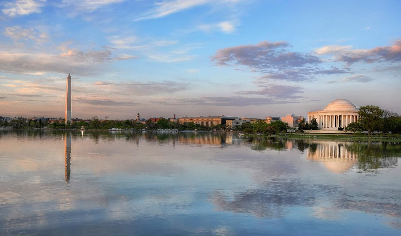 Capital reflections Washington, DC -- a beautiful pastel