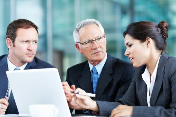 three people planning