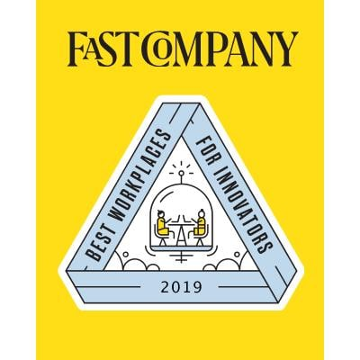 Fast Company Best Workplaces for Innovators 2019 award logo