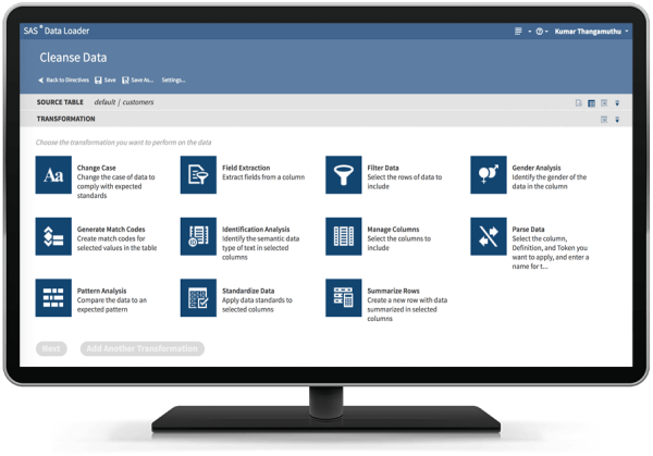 SAS® Data Loader for Hadoop - Cleanse data