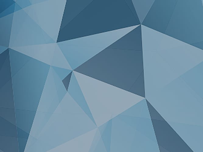 Blue abstract triangles