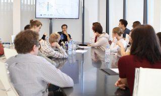 Экскурсия студентов факультета математики ВШЭ в офис SAS