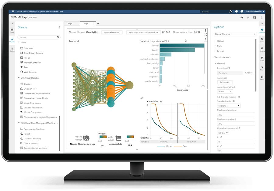 SAS® Visual Data Mining and Machine Learning - neural network