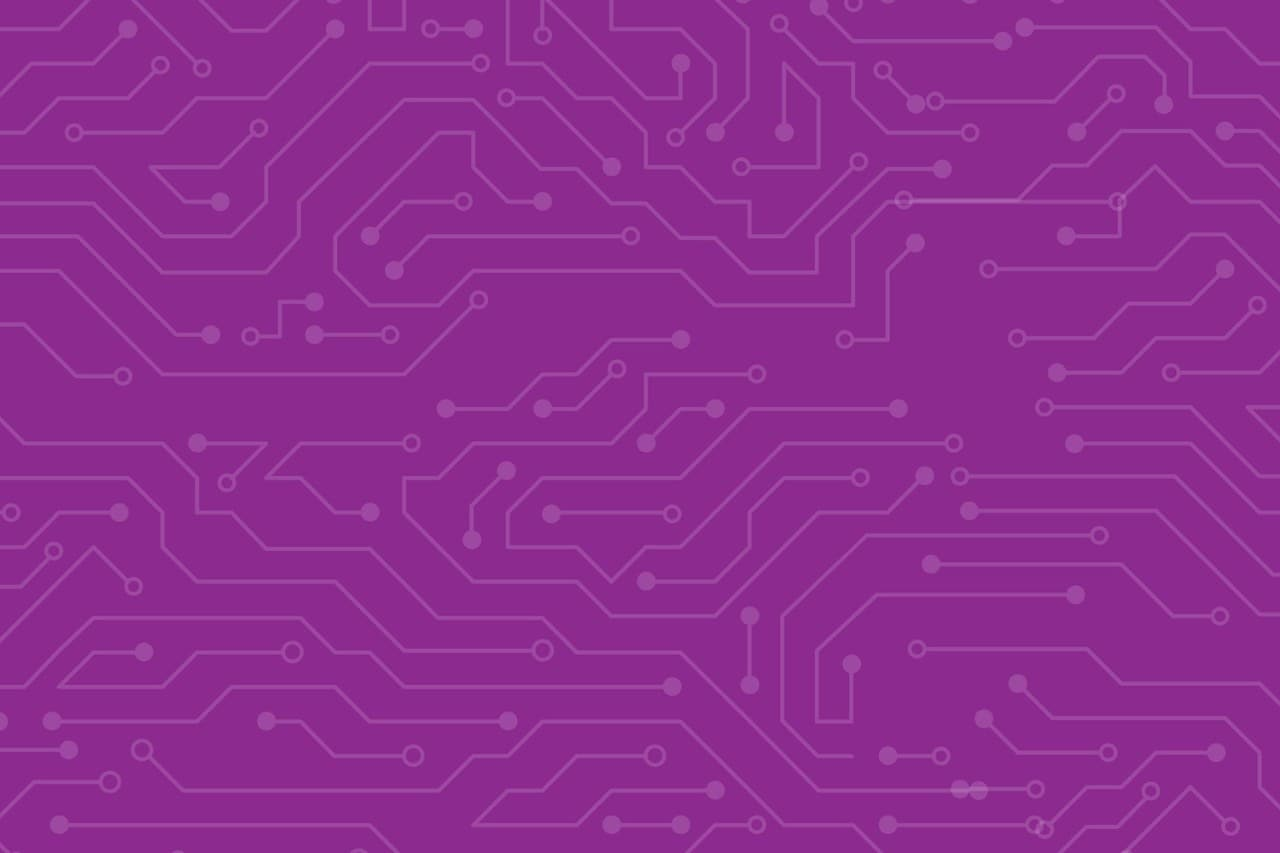 Purple Background with connecting lines covering