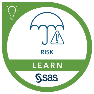 SAS Learn Badge for Risk