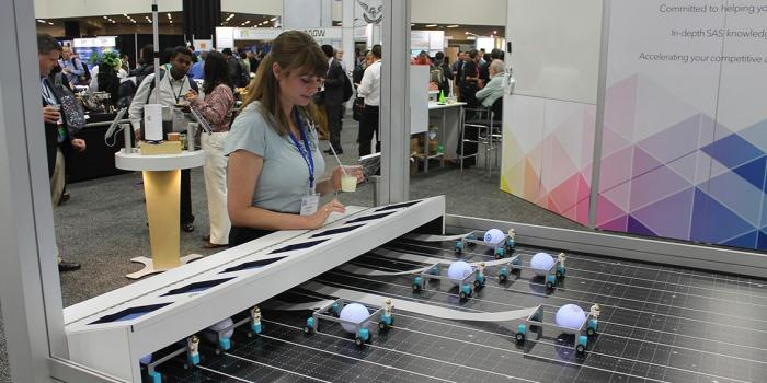 Abstract connected dots