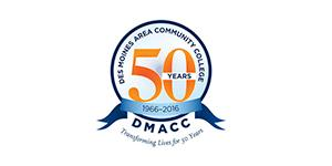 Des Moines Area Community College 50 Years logo