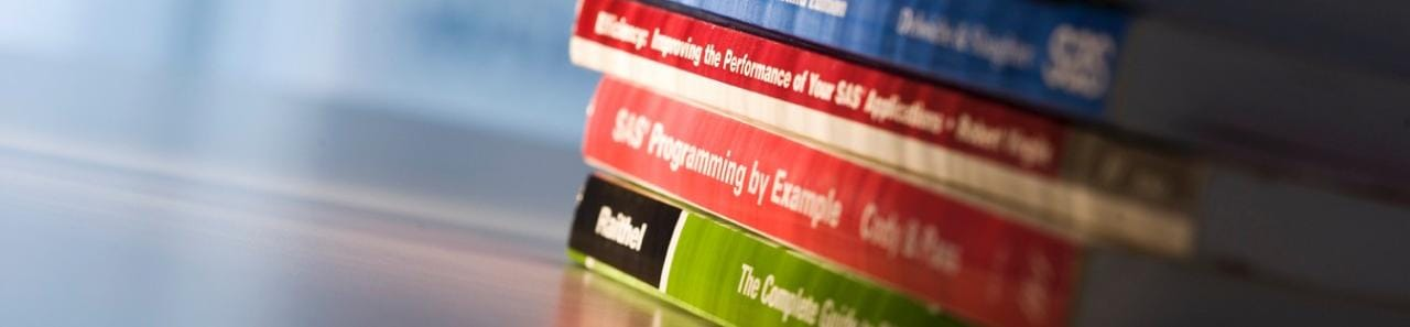 Stack of SAS books