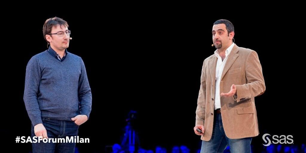 Alessio Cimarelli e Andrea Nelson Mauro - DataNinja at SAS Forum Milan 2016