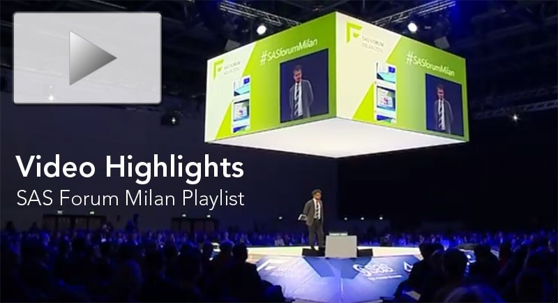 SAS Forum Milan 2016 Video Highlights
