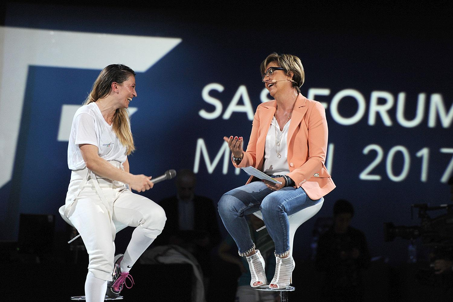 Margherita Granbassi and Emanuela Sferco at SAS Forum Milan 2017
