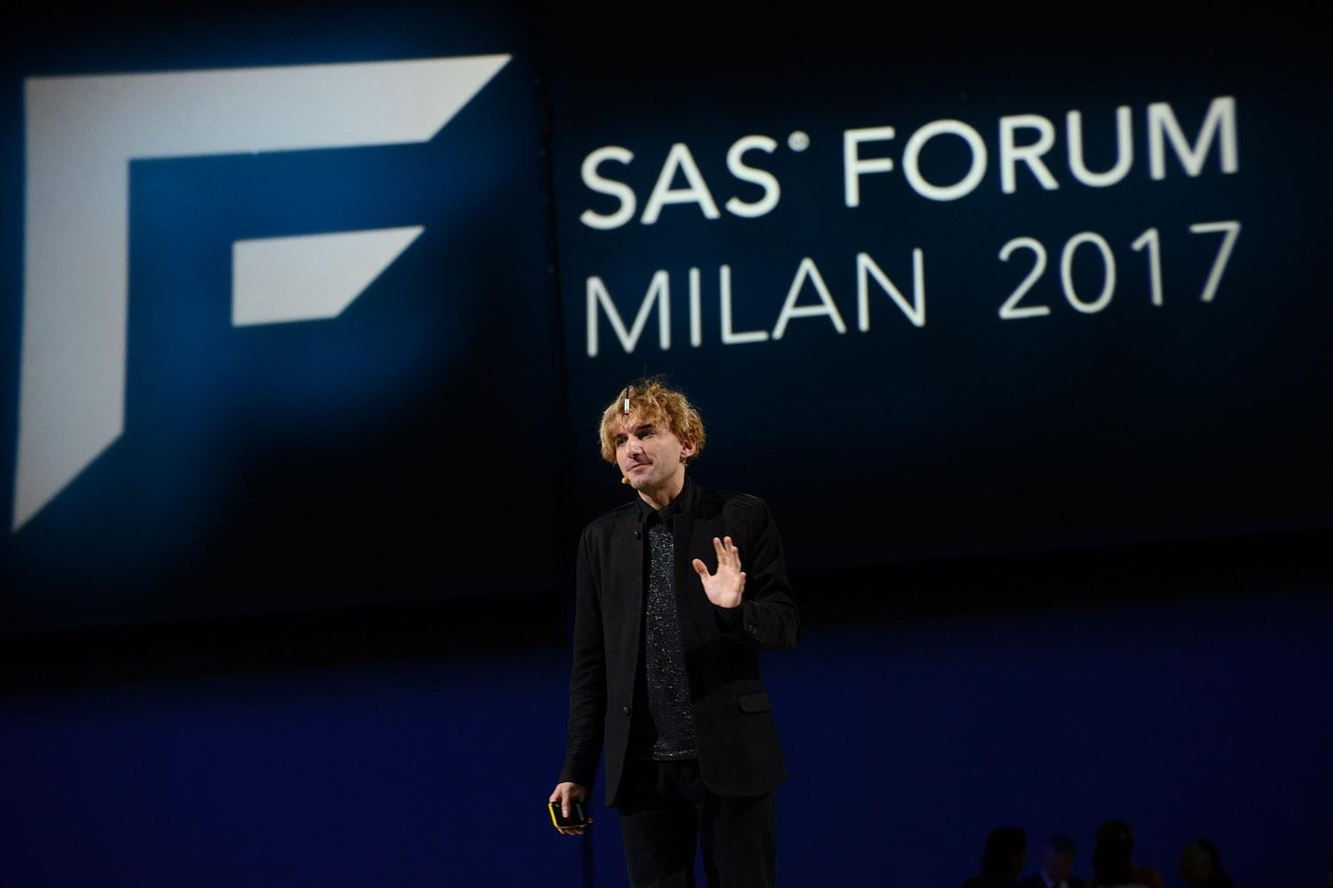 Neil Harbisson at SAS Forum Milan 2017