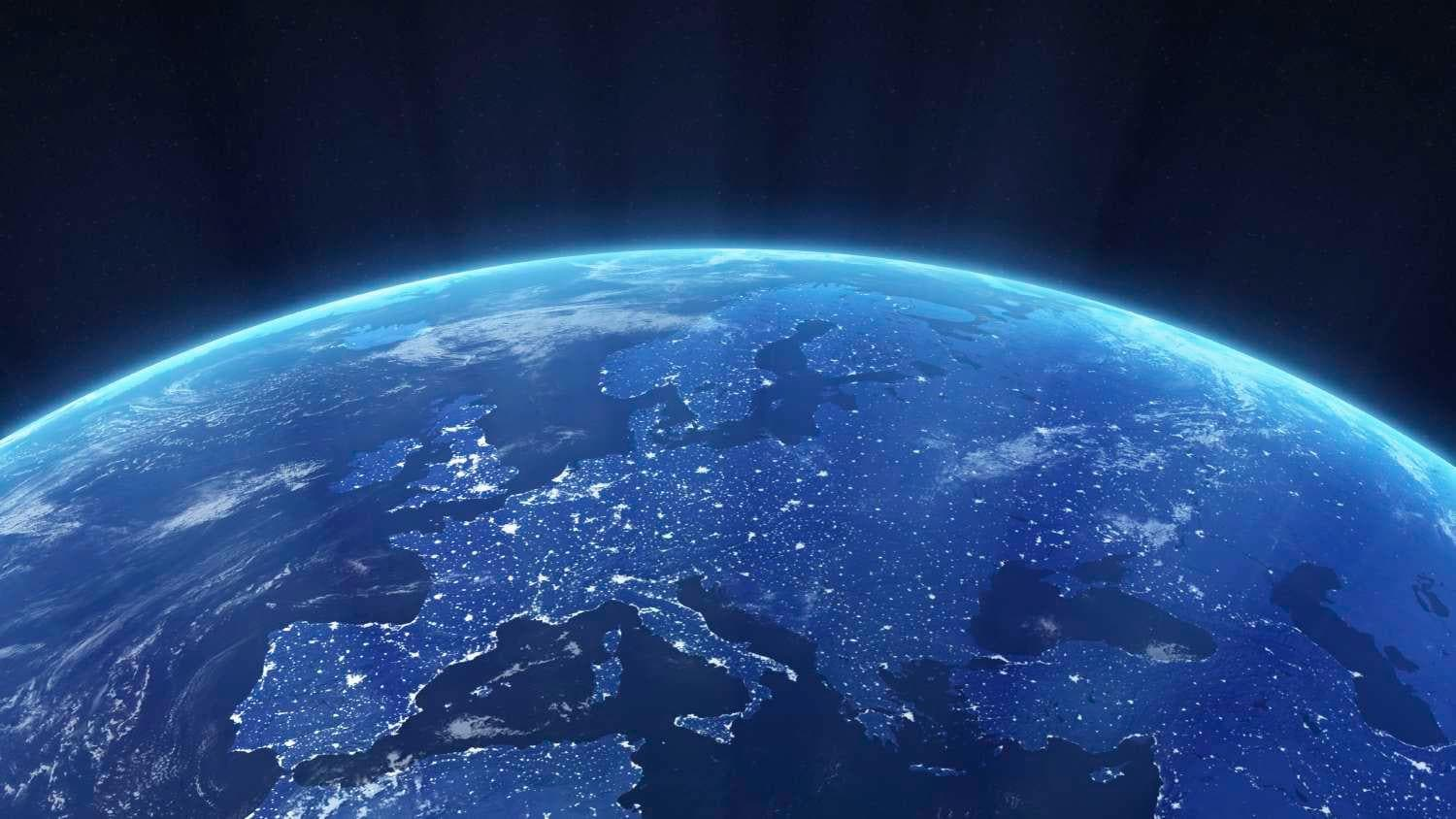 View of Earth from outerspace