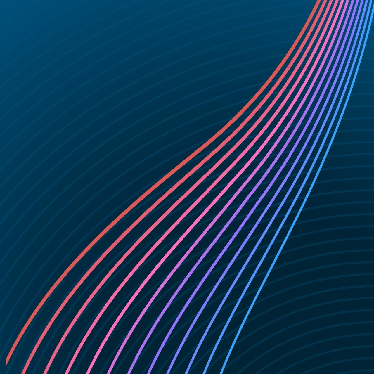 Abstract Art Colorful Lines Swirl