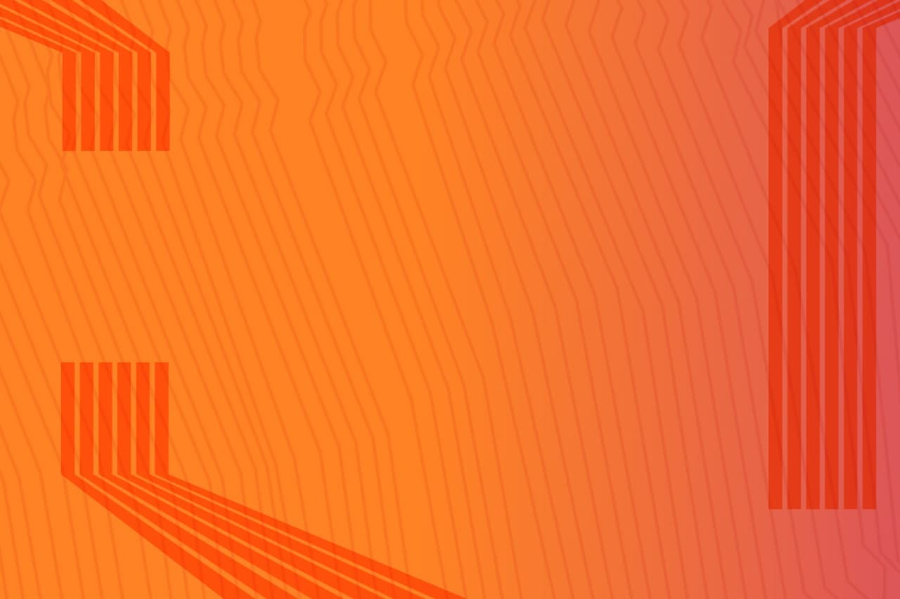 Orange background with dark orange vertical lines and no codes