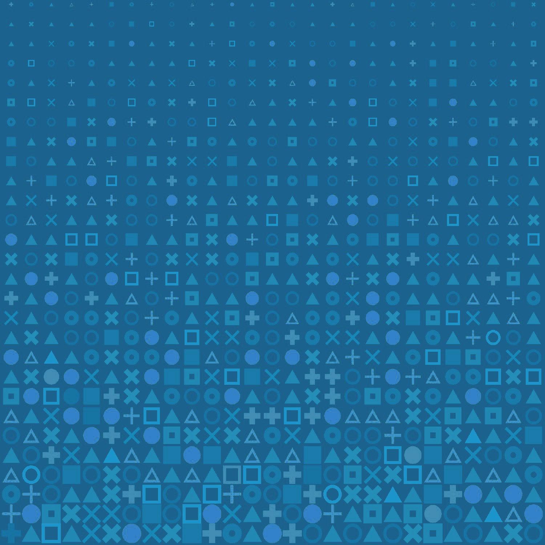Circle Square Cross Shapes Grid Pattern Blue