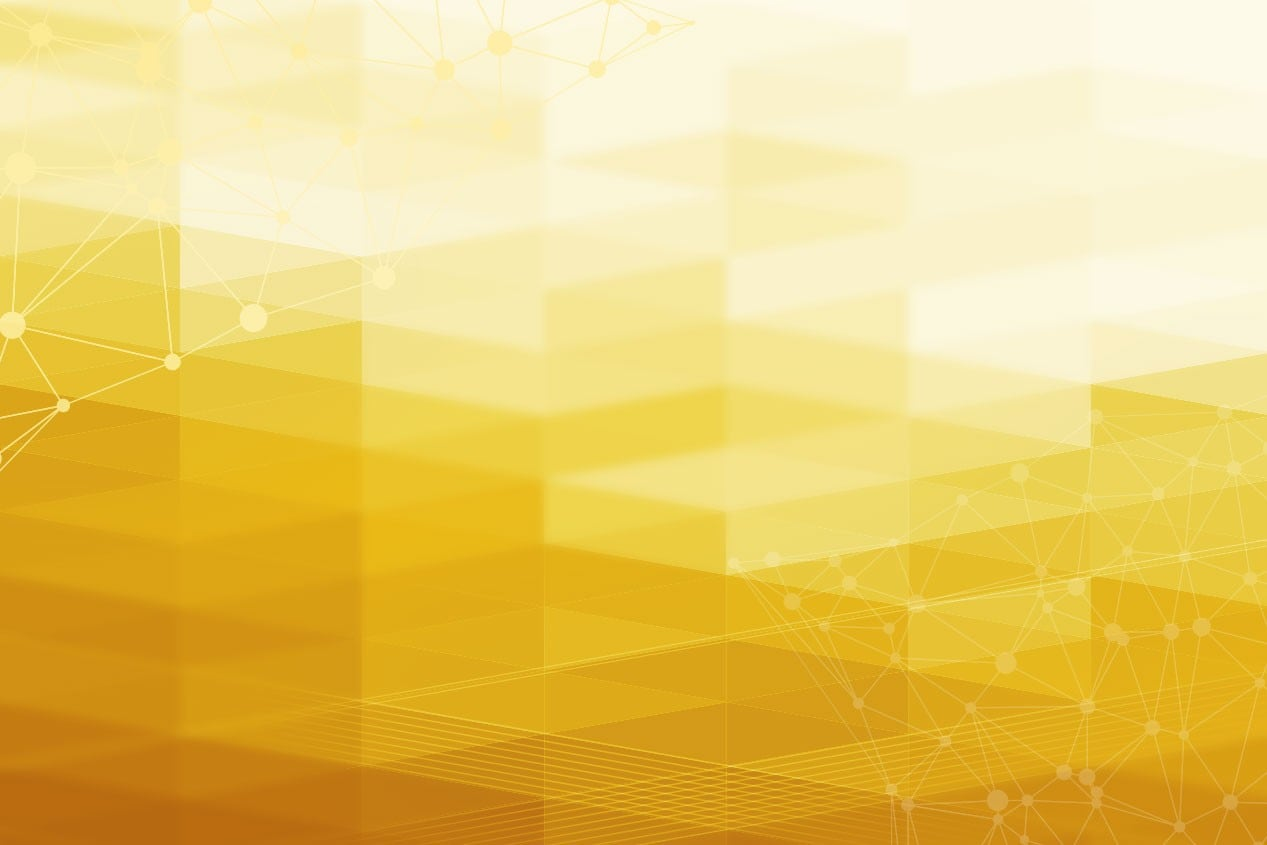 Background of Abstract Yellow Diamonds