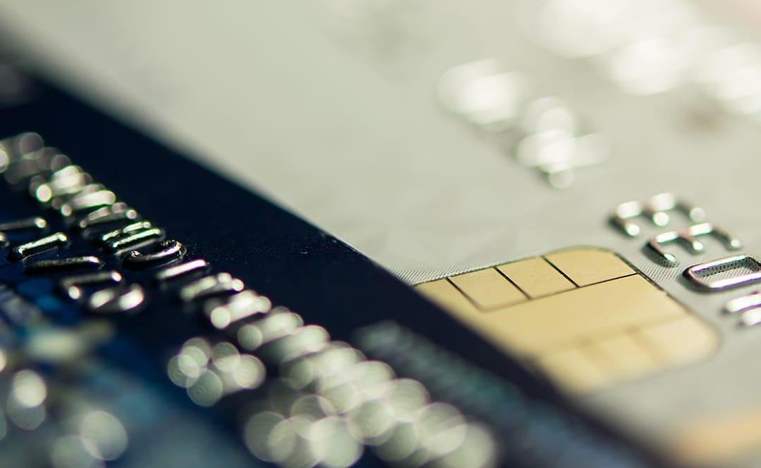 Close up of credit card