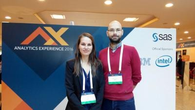 Jozef Palkovič and Lucia Galková, Slovak University of Agriculture, at Analytics Experience 2016 Rome